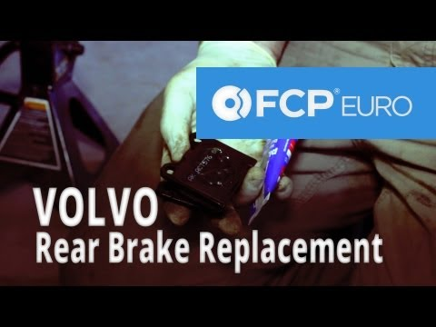 Volvo Brake Replacement (850 Rear Akebono Pads, ATE Slotted Rotors) FCP Euro