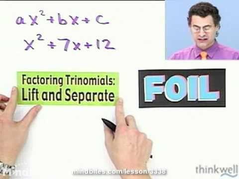 Int Algebra: Factoring Trinomials: More Examples