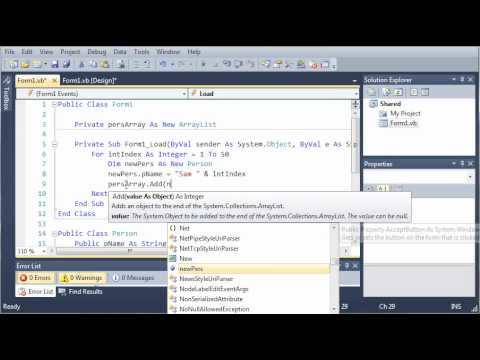Visual Basic Tutorial - 128 - Shared