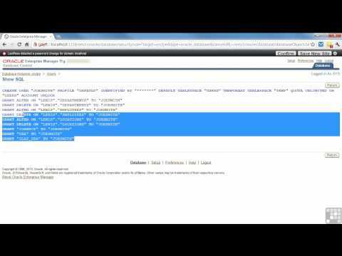 Oracle 11G Tutorial | Creating and Removing Users | InfiniteSkills Training