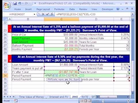Excel Finance Trick #5: PMT & FV function & Delayed Payments