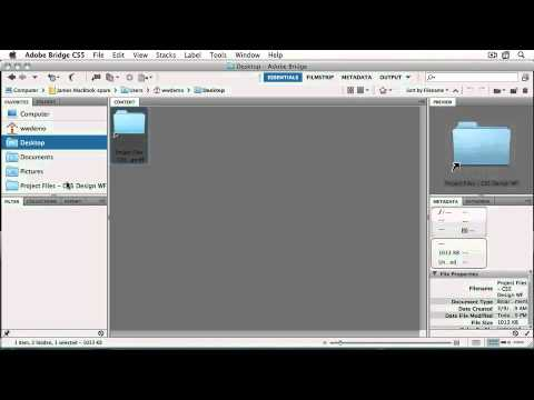 Adobe CS5 Design Workflow: ch 1  A Quick Tour of the Bridge Interface