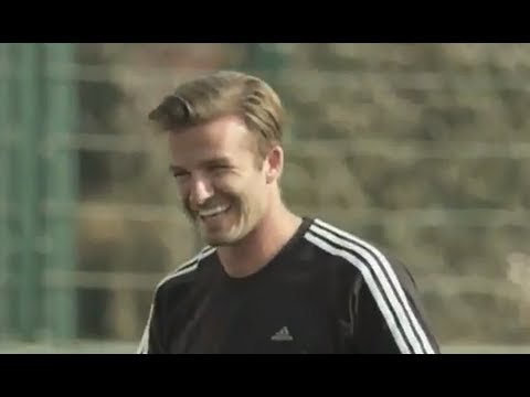 David Beckham tries his hand at blind football (London 2012)