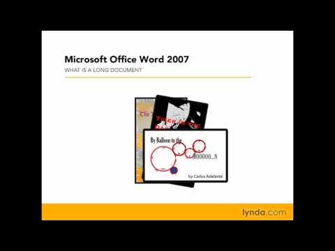 Word: Types of long documents | lynda.com