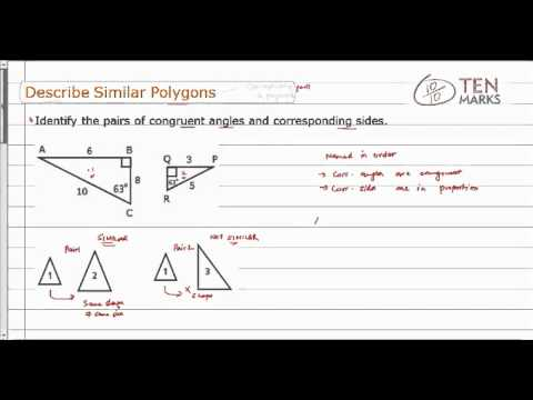 Describing Similar Polygons