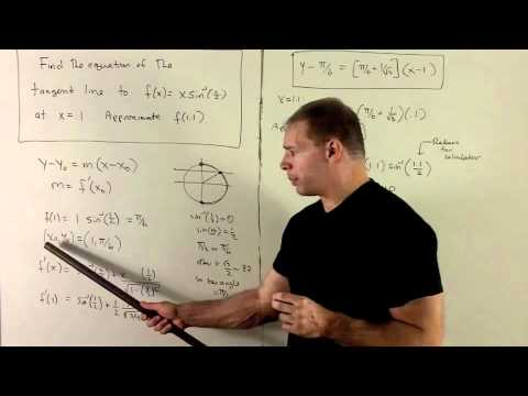 Tangent Line to f(x) = xsin^{-1}(x/2)