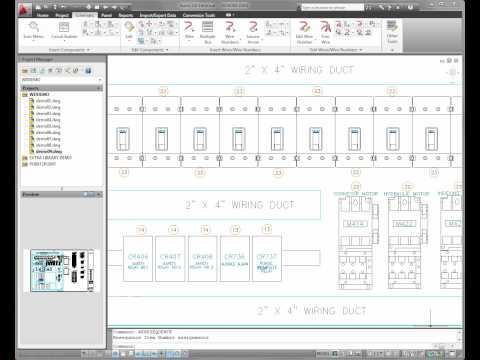 AutoCAD Electrical 2011 — Panel Layout Enhancements