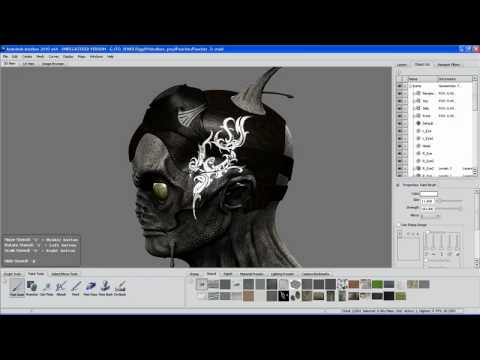 Autodesk Mudbox 2010 Texture painting pt2 New Features