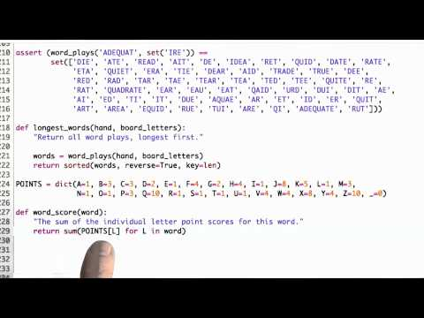 Word Score Solution - CS212 Unit 6 - Udacity