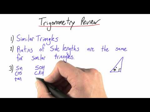 Trigonometry Review - Intro to Physics - Circumference of Earth - Udacity