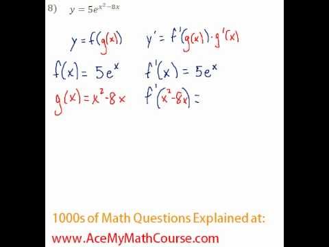 Derivatives - Chain Rule Question #8