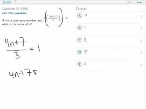 Grockit GMAT Quantitative - Problem Solving: Question 3998