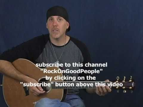 How to play lead guitar open Blues pentatonic scale lesson on acoustic