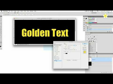 How to Create Gold Text in Photoshop