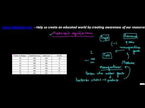 949.Economics - Producers Equilibrium - Concept