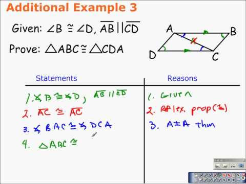 4.3 Triangle Congruence by Angle-Angle-Side and Angle-Side-Angle