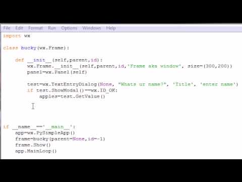 wxPython Programming Tutorial - 8 - Simple Text Program