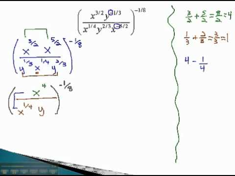 Rational Exponents - Simplify Part 2