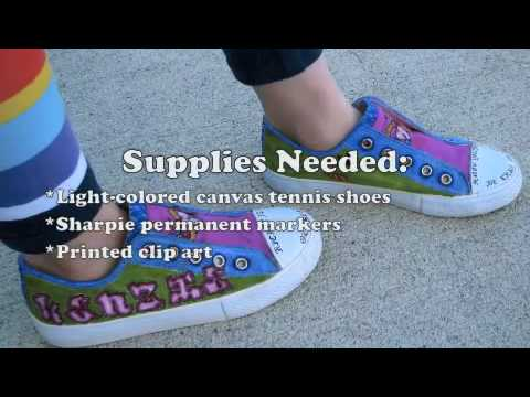 "How to Make ""Tattooed"" Tennis Shoes"