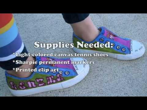 "How to Make ""Tattooed"" Tennis Shoes"