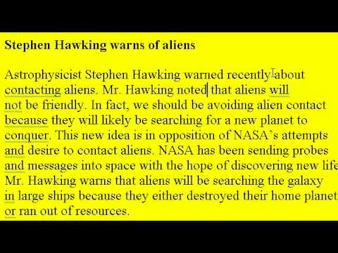 Accent Reduction Learn English Lesson 18 - Aliens