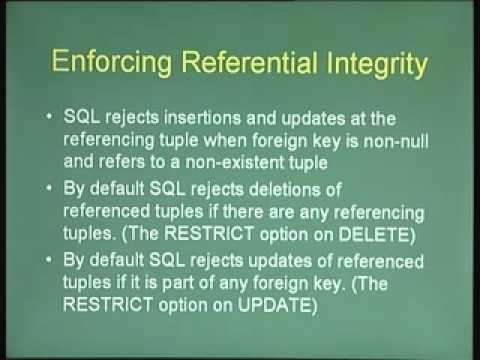 Lecture - 13 Constraints and Triggers