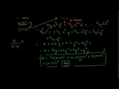1099. Expanding Binomial expression with 3 terms