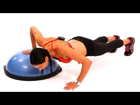 How to Do a Push Up with a Bosu Ball | Exercise Ball Workout