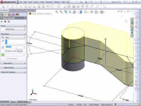 Solidworks 2012 Tutorial | Base Plate and Bosses