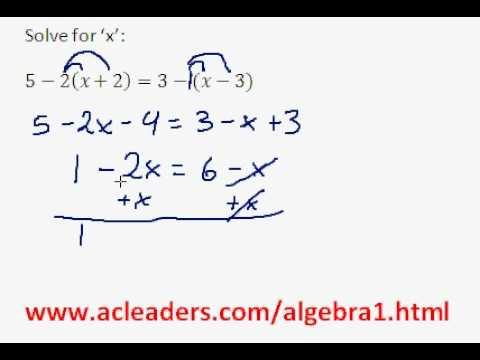 Algebra 1 - Solving Equations w/ Distributive Property (pt. 4)