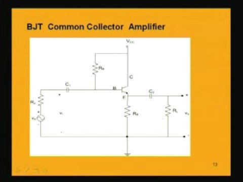 Module - 2 Lecture - 7 BJT Amplifier Part - 2