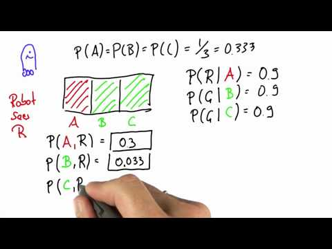 Robot Sensing 6 - Intro to Statistics - Bayes Rule - Udacity