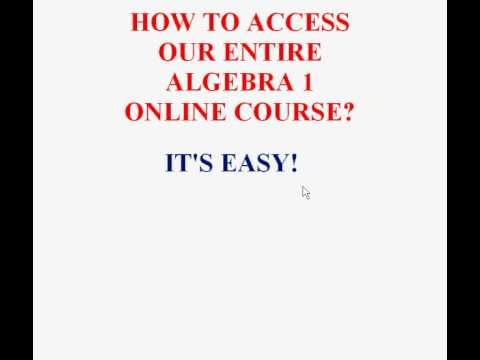How to Access our Entire Algebra 1 Online Course!