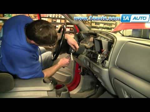 How To Install Replace Turn Signal Wiper Switch Stalk Ford F250 Super Duty 02-07 1AAuto.com