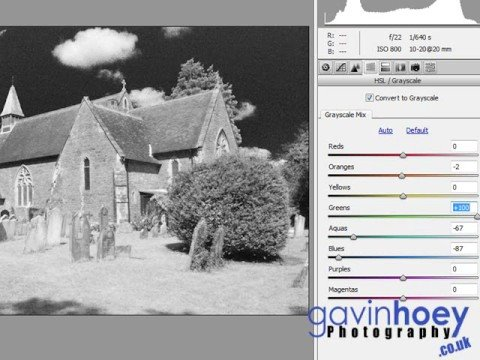 Infrared effect from RAW images - Photoshop week 22