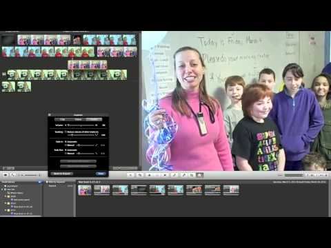 Part 2 (of 4) iMovie Tutorial: Advanced: clips over other audio, picture in picture, etc