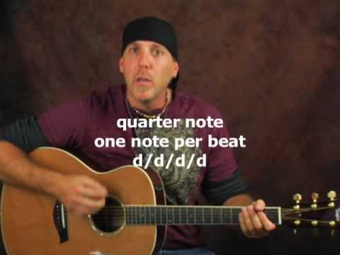 Learn how to play acoustic guitar new strum pattern with easy beginner chord movements