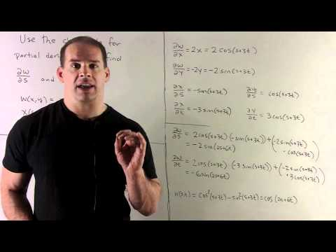 Example of Chain Rule for Partial Derivatives