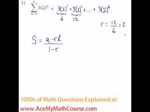 Geometric Series - Sigma Notation Question #1