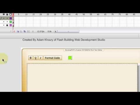Flash WYSIWYG Open Code Rich Text Editor Tutorial Part 5