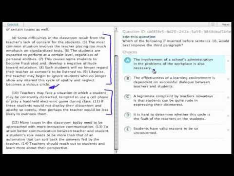 "Grockit SAT Writing ""Work-That-Question"" sample question (4)"