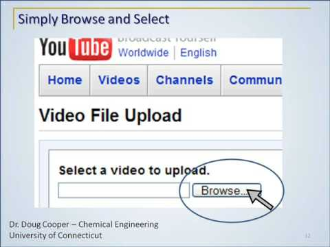 E) How to Upload a Presentation Video to YouTube