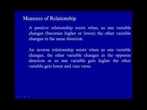8A. Measures of Relationship (Correlation Coefficient) - Dr. A.G. Picciano