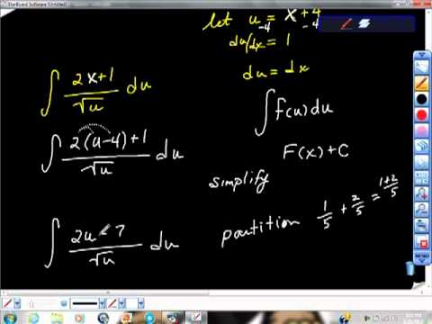 AP Calculus AB Using U substitution on Difficult Problems