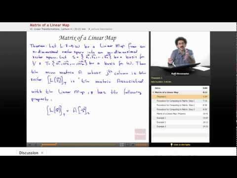 Linear Algebra: Matrix of a Linear Map