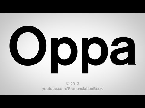How to Say Oppa