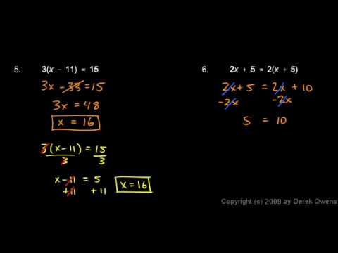 Algebra Review 2.3 - Solving Equations