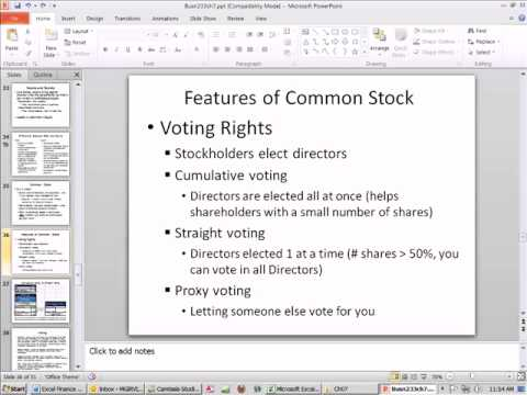 Excel Finance Class 59: Common & Preferred Stock