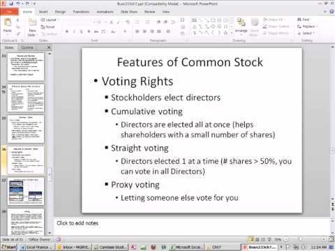Excel Finance Class 59: Common & Preferred Stock