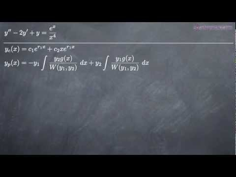 Variation of Parameters for Differential Equations